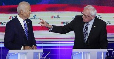 Former Vice President Joe Biden and Sen. Bernie Sanders in Democrat Party Debate. Photo Credit: Fars News Agency.