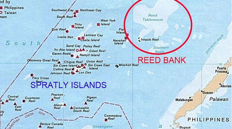 Reed Bank, where the incident took place. Credit: Wikipedia Commons