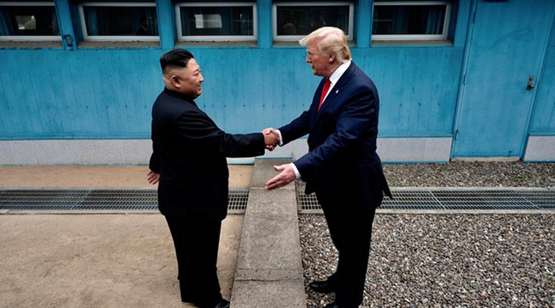 US President Donald Trump and North Korea's Kim Jong Un at the DMZ. Photo Credit: White House