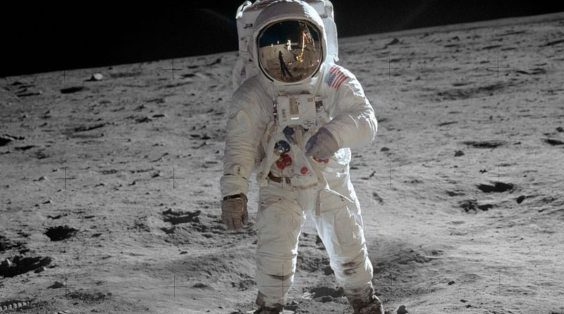 Astronaut Buzz Aldrin on the moon. Photo Credit: NASA