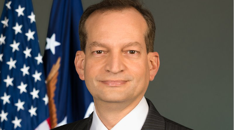 U.S. Secretary of Labor R. Alexander Acosta. Official Department of Labor Photograph
