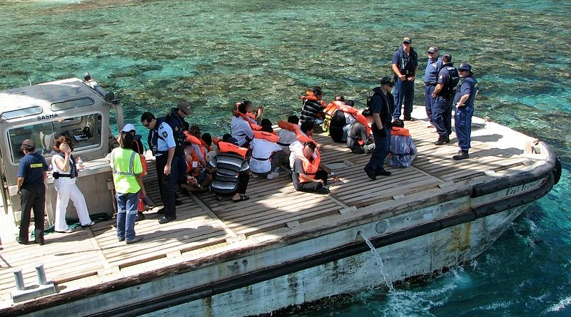 A Christmas Island boat transports rescued refugees. Photo Credit: DIAC images - Christmas Island Immigration Detention Centre, Australia, Wikipedia Commons