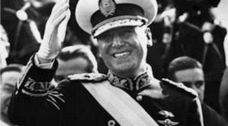 Argentina's Juan Domingo Perón at his 1946 inaugural parade. Source: Wikipedia Commons