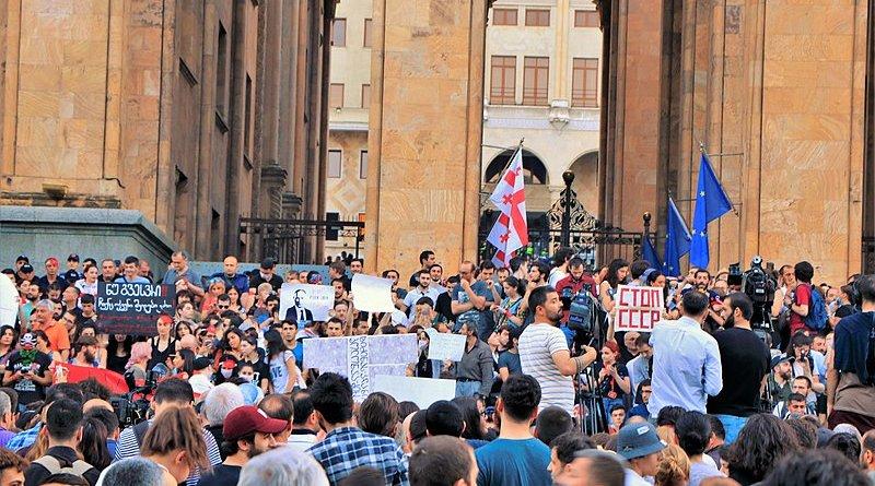 Protests in Georgia. Photo Credit: George Melashvili, Wikipedia Commons.