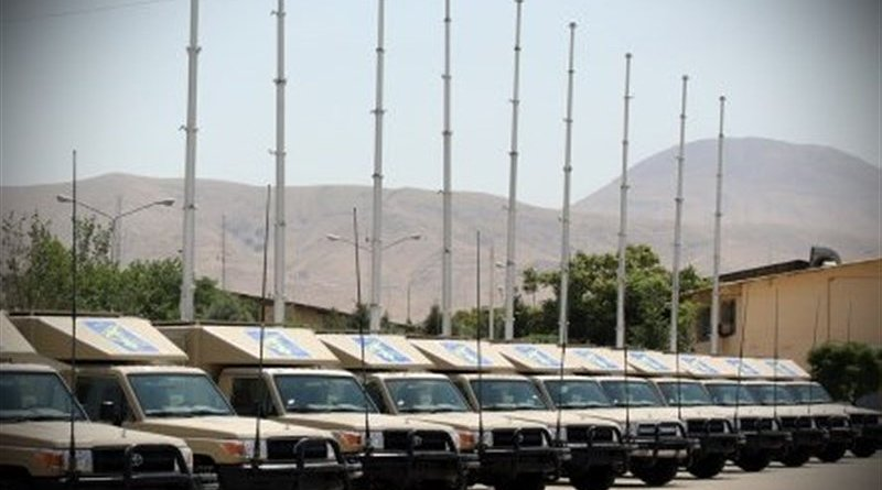 "Iran's communication system, dubbed ""Sepehr-110"". Photo Credit: Tasnim News Agency"