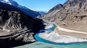 Confluence of the Indus and Zanskar rivers in Ladakh, India
