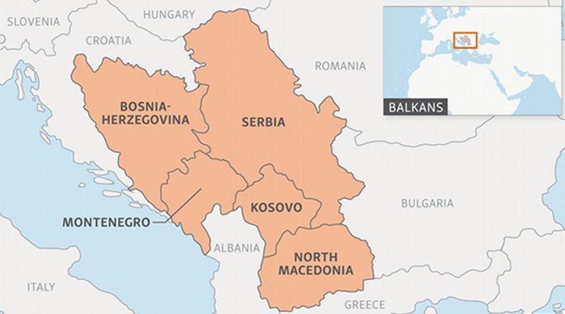 Balkan region. Photo Credit: RFE/RL Macedonia Serbia Kosovo Montenegro bosnia