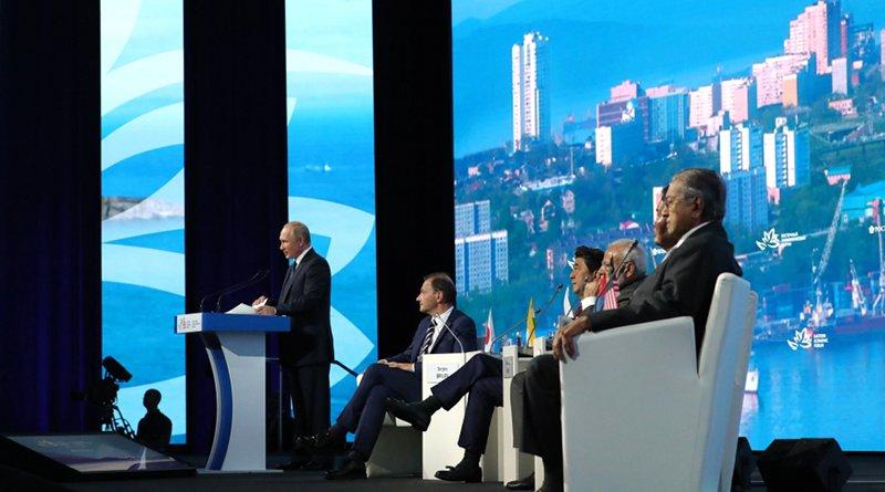 Russia's President Vladimir Putin at the Eastern Economic Forum. Photo Credit: Kremlin.ru