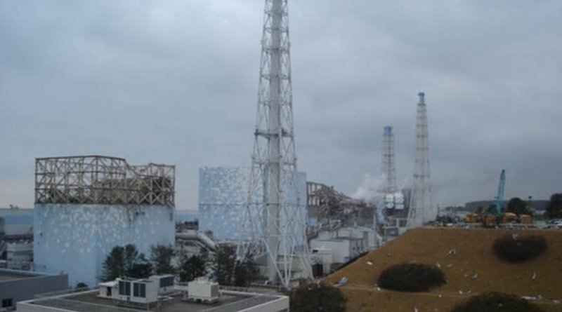 Fukushima Daiichi units 1-4, pictured four days after the accident (Image: Tepco)