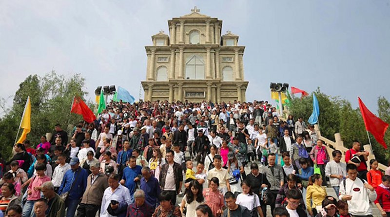 More than 10,000 Catholics celebrate the Marian feast day on Sept. 15 at the Mount of Our Lady of Seven Sorrows in northern China. (Photo supplied)