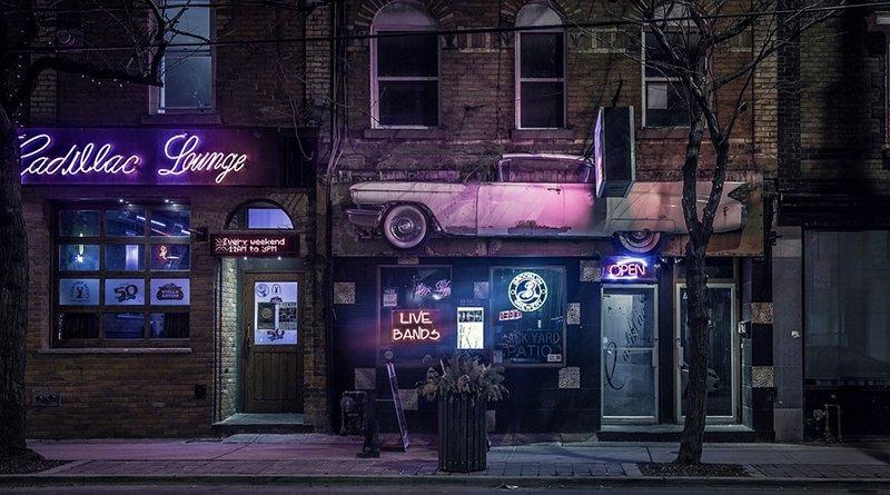 city bar crime night