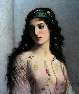 Jewish woman in Tangiers. Charles Landelle, Juive de Tanger (Musée des beaux-arts de Reims)