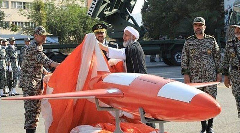 "Iran unveils ""Kian"" drone. Photo Credit: Tasnim News Agency"