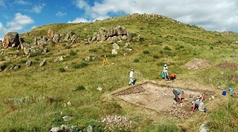 Excavation of the Dali settlement in southeastern Kazakhstan c. 2011 - wide Credit Michael Frachetti