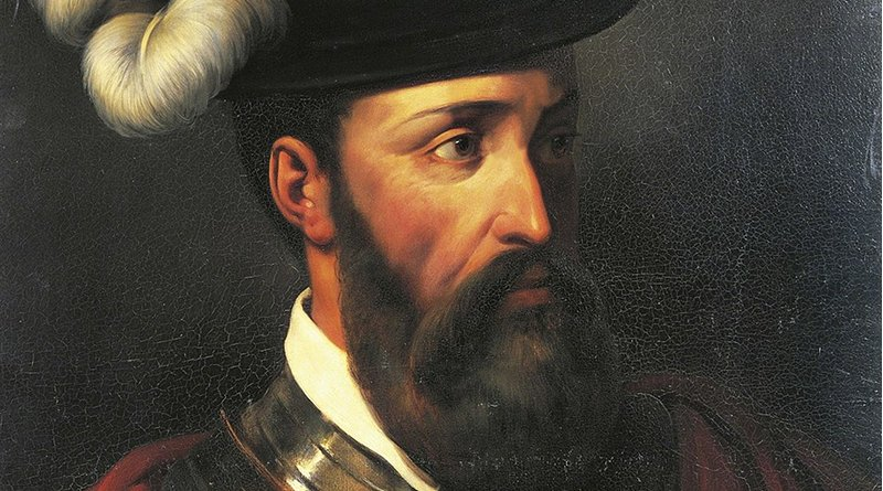 Detail of 'Portrait of Francisco Pizarro' by Amable-Paul Coutan (1792–1837)