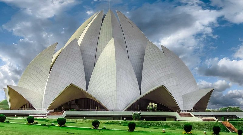Baha'i house of worship, the Lotus Temple, located in New Delhi, India.