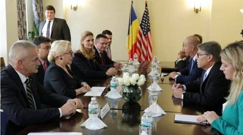 The meeting between the US Secretary of Energy and the Romanian Prime Minister (Image: Romanian Government)