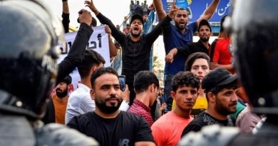 Protests in Iraq. Photo Credit: Tasnim News Agency