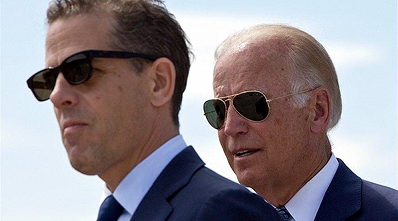 Hunter Biden and former US vice-president Joe Biden. Photo Credit: Fars News Agency