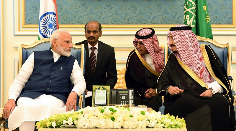 The Prime Minister, Shri Narendra Modi meeting the King Salman bin Abdulaziz Al Saud of Saudi Arabia, in Riyadh, Saudi Arabia. Photo Credit: India Prime Minister office