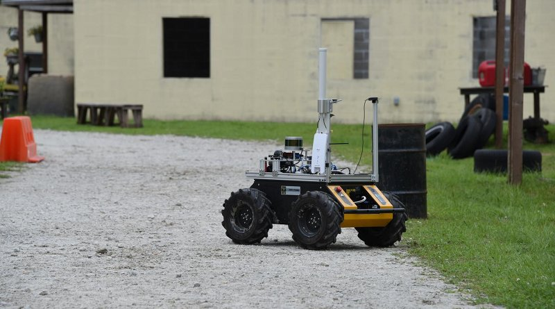 The Clearpath Husky, used as a research platform, is used to develop and test underlying autonomy to support context-driven AI that supports effective bidirectional communication. CREDIT (ARL Photo)