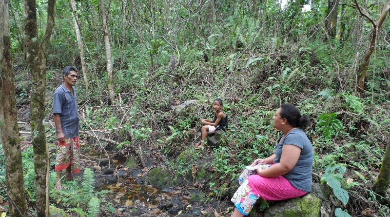 Dr Anita Latai-Niusulu interviewing a Samoan farmer CREDIT Dr Anita Latai-Niusulu