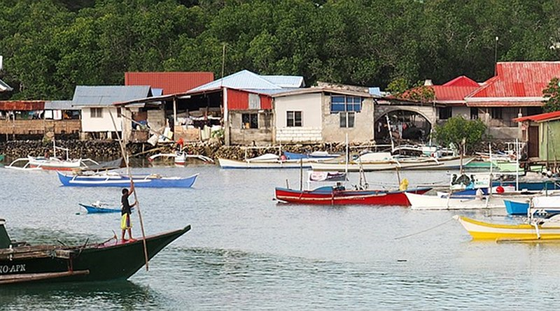 Fishing village in the Philippines