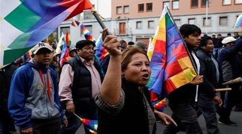 Bolivians protest. Photo Credit: Tasnim News Agency