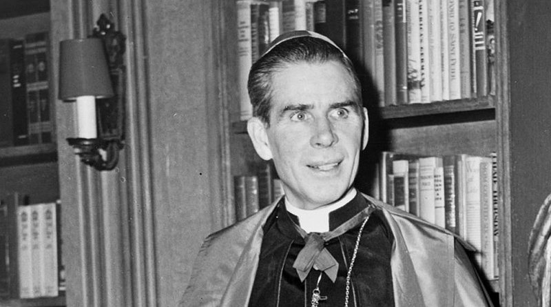 Bishop Fulton J. Sheen. Credit: Library of Congress. New York World-Telegram & Sun Collection., Wikipedia Commons
