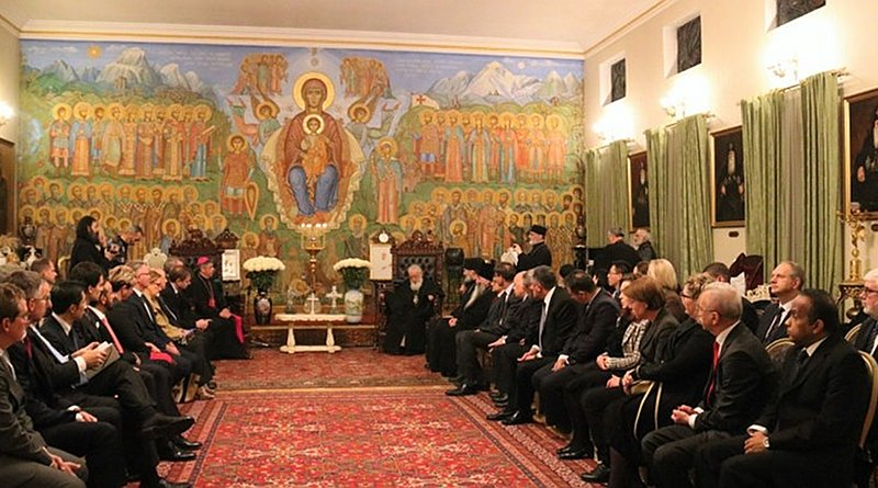 Georgian Orthodox Church patriarch Ilia II hosts foreign diplomats in the patriarchate. Photo: Patriarchate.ge