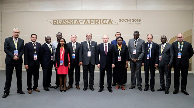 Russian President Vladimir Putin with Africa News Agency Heads