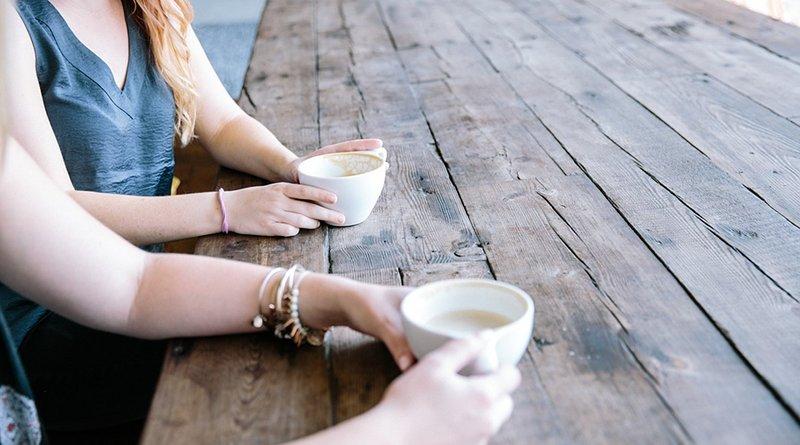 women woman drink coffee