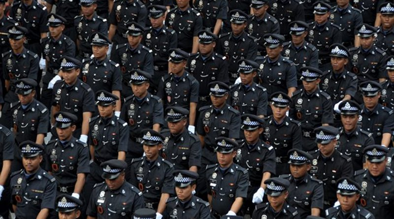 Malaysia police in parade. (shutterstock.com photo)