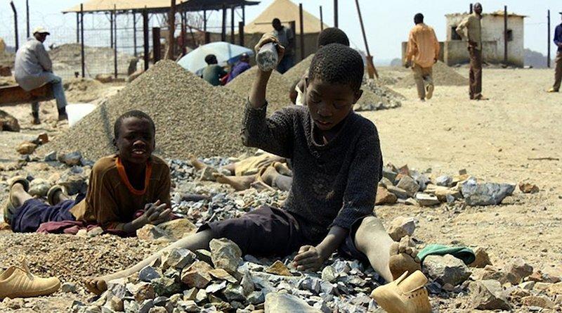 Child labor in the mines of the Democratic Republic of the Congo. Credit: UNICEF