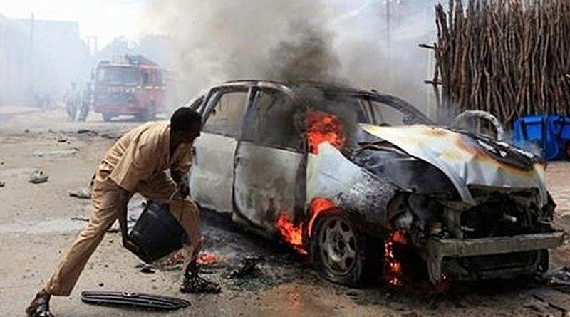 Car bomb in Mogadishu, Somalia. Photo Credit: Tasnim News Agency