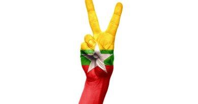 burma myanmar flag peace