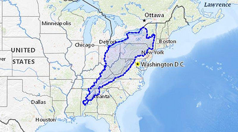 Extent of the Appalachian Basin. Credit: USGS