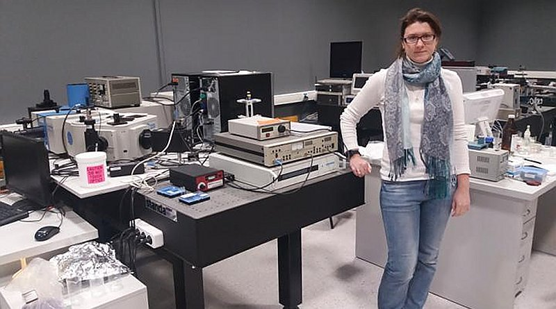 This is Senior Researcher of the 'Fabrika' Science and Technology Park, Ph.D. in Physics Anna Tsibulnikova. CREDIT Immanuel Kant Baltic Federal University