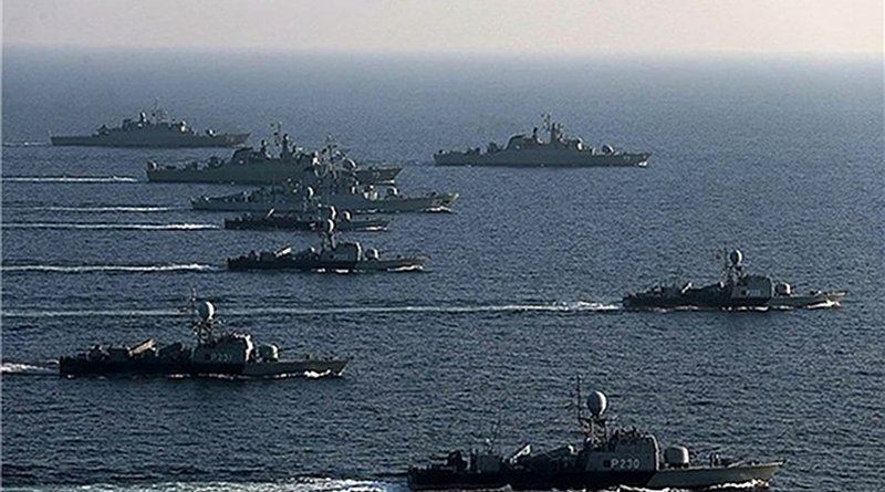 Joint naval drill of Iran, Russia an China. Photo Credit: Fars News Agency