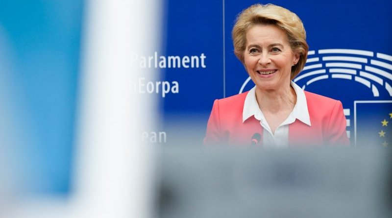 Ursula von der Leyen. Photo Credit: Daina Le Lardic, © European Union 2019 - Source : EP