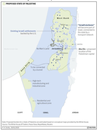 Figure 3. Unofficial Map with Green Line  Notes: Green lines on map represent 1949-1967 Israel-Jordan armistice line (for West Bank) and 1950-1967 Israel-Egypt armistice line (for Gaza). All borders are approximate.