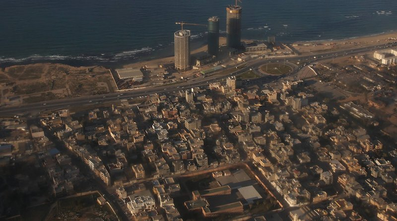 An aerial view of Tripoli, Libya from a UN aircraft. Photo Credit: UN/Abel Kavanagh