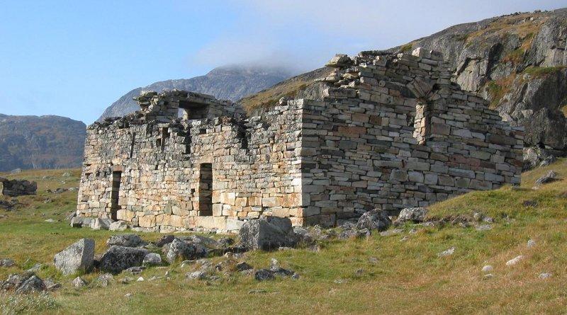 Church ruins from Norse Greenland's Eastern Settlement. CREDIT James H. Barrett