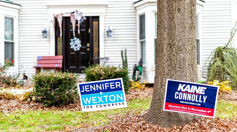 Political signs in front yard CREDIT Credit: Kristi Blokhin/iStock.