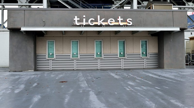 Ticket Booth Sign Tickets Sell Sporting Event