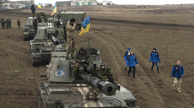Ukrainian troops in Donbass, March 2015. CC BY 2.0