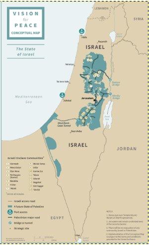 Figure 1. Conceptual Map of Israel. Source: U.S. peace plan, January 2020.