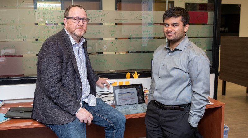Associate professor Andrew McArthur, left, and PhD candidate Jalees Nasir are authors of the study and members of the Michael G. DeGroote Institute for Infectious Disease Research and the Department of Biochemistry and Biomedical Sciences at McMaster University. Photo courtesy McMaster University