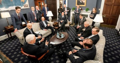Vice President Mike Pence meets with the President's Coronavirus Taskforce Wednesday, February 26, 2020, in his West Wing Office of the White House. (Official White House Photo by D. Myles Cullen)