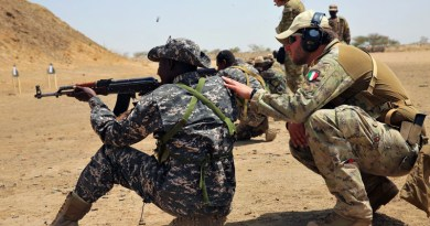 Chadian special forces soldier receives basic rifle marksmanship training at live-fire range in Massaguet, Chad, as part of exercise Flintlock 17, March 6, 2017 (U.S. Army/Derek Hamilton)